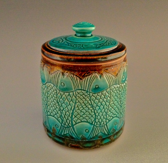 Shipping Container Designs: Wheel-thrown Carved Lidded Jar/Canister/Urn By NorthWind