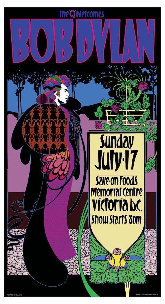 Bob Dylan art nouveau concert poster