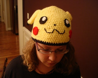 Pikachu-Inspired Crocheted Hat