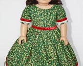 "American Girl 18"" Doll Christmas Dress"