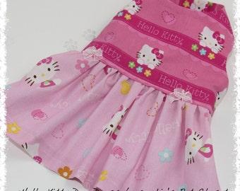 Hello Kitty Dog Dress - XS,S,M,L,XL - Disney Dog Dress, Hello Kitty Pet Clothes, Dog Apparel, Birthday Party Dog Dress, Pooch Disney Dress