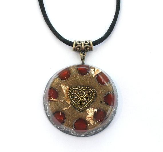 Electromagnetic Radiation Protection Necklace: Orgone Pendant Necklace Carnelian EMF By OrgoniseYourself