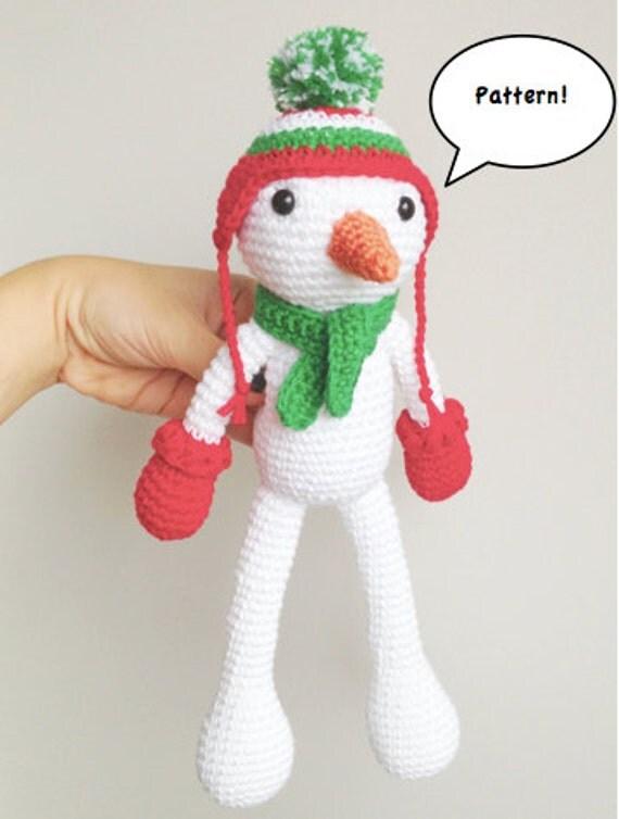 Amigurumi Snowman Ornament : Snowman Amigurumi Pattern