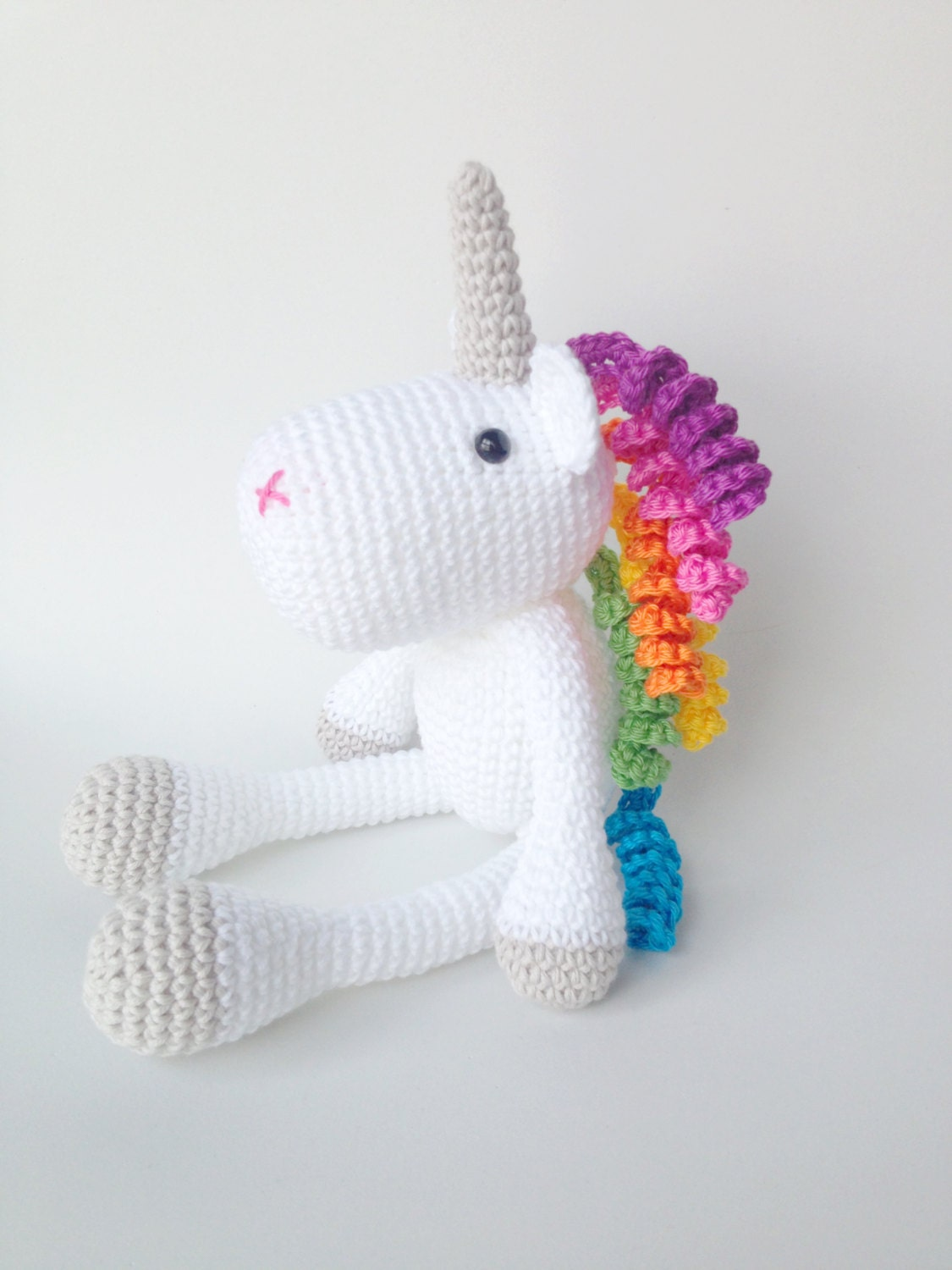 Unicorn Amigurumi Yarn Yard : Unicorn Plush Unicorn Stuffed Animal Unicorn Plushie