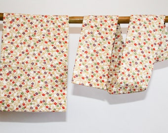 Tsuke Obi Floral Cream Japanese Vintage 2 Piece Obi, Kimono Accessory Sash,  Japanese Belt