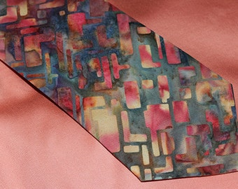 Men's Necktie, 'Fire Lit'