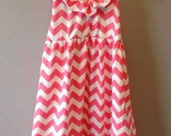 Adorable girls CHEVRON ruffle halter dress! Summer!! Avaiable in sizes 5T-10Y