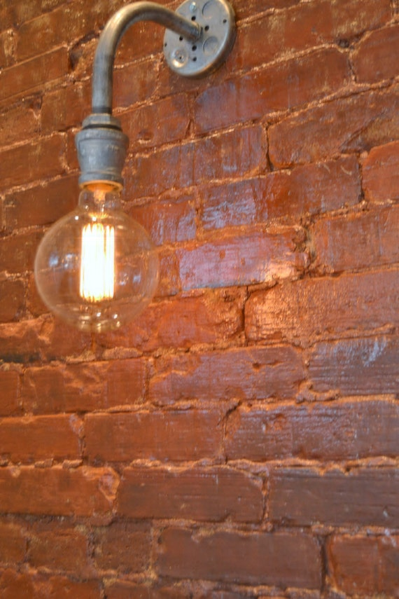 Steampunk Wall Light Industrial Sconce By WestNinthVintage