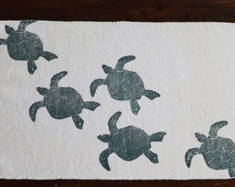 bath rug, bath mat SEA TURTLE cotton chenille rug