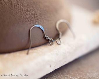 10 Pairs Gunmetal 17x15x2mm French Shepherd Hook Earrings (F0003)