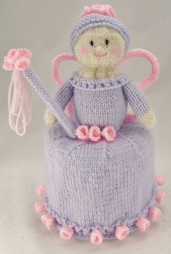 Knitting Pattern Flower Fairy Toilet Roll Cover