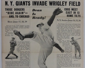 June 12, 1939 Chicago Cubs News Vol 4 No 4 Wrigley Field - Free Shipping