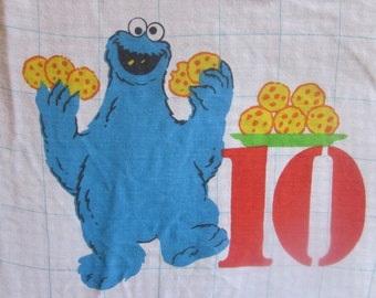 Sesame Street Muppets Counting Numbers Full Fitted Sheet Dorm Room Decor