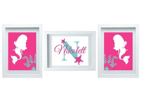 Girls Bedroom Decor Girls Bathroom Decor Mermaid Nursery Decor