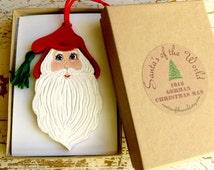 German Christmas Man, Pelze Nichol , Santa Ornament, Collectable Santa Claus, Stock Stuffer, Secret Santa, Weihnachtsmann