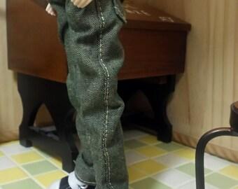 blythe clothes, Pants vintage green