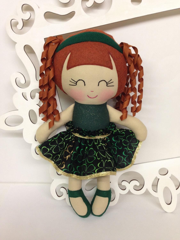Handmade Baby Gifts Ireland : Irish dance handmade dolls fabric doll cloth