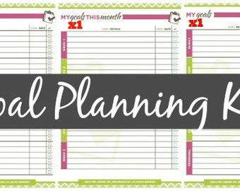Goal Setting Kit, Instant Download