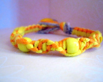 Bright Colored Yellow Bracelet