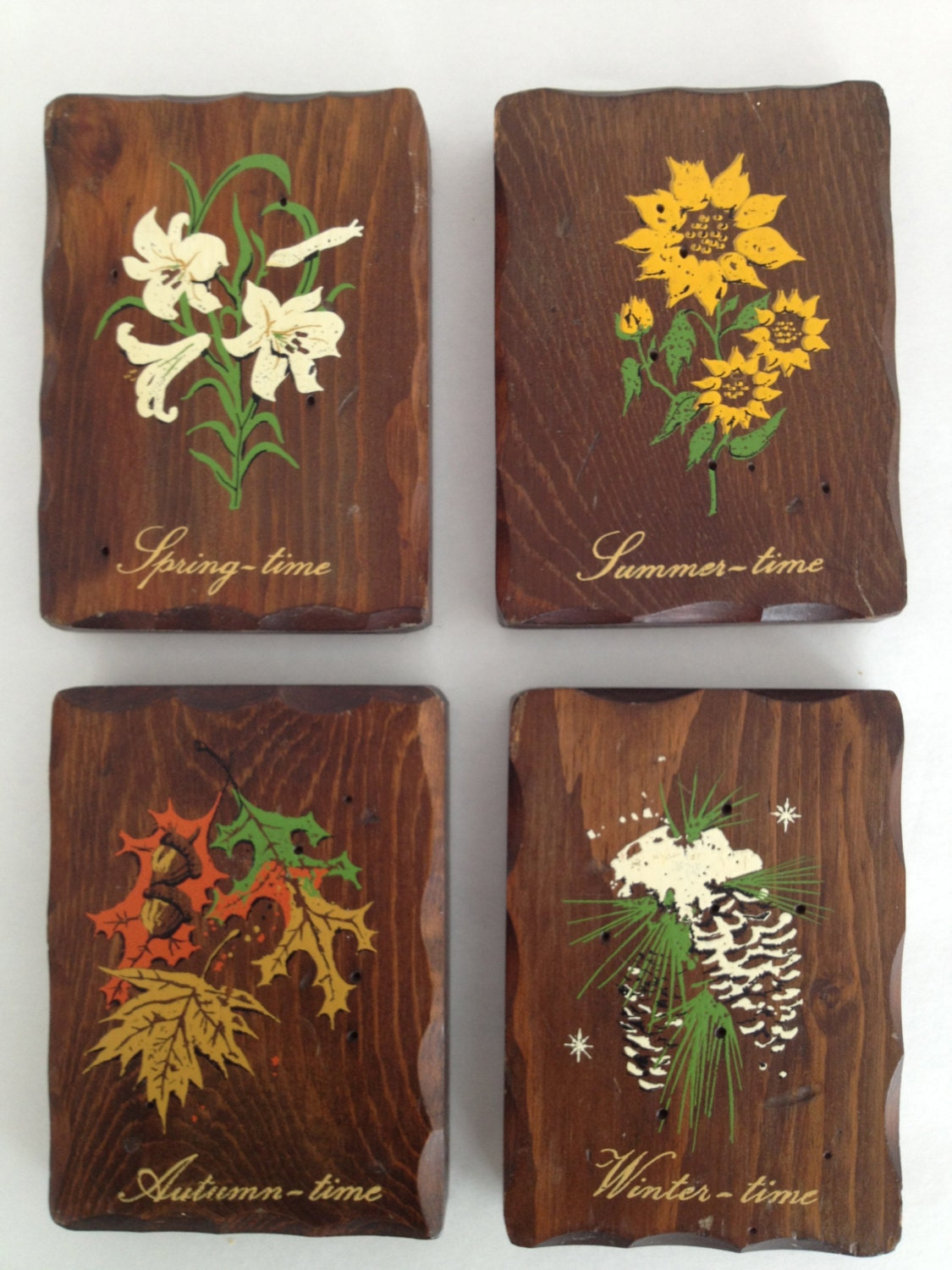 Woodland Folk Art Plaques Painted Wood Wall Plaques W