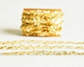 Metallic Gold Tinsel - 6 Yards - Christmas Halloween Holiday String Twine Ribbon Gift Wrapping Packaging Embellishment Pretty Party Decor
