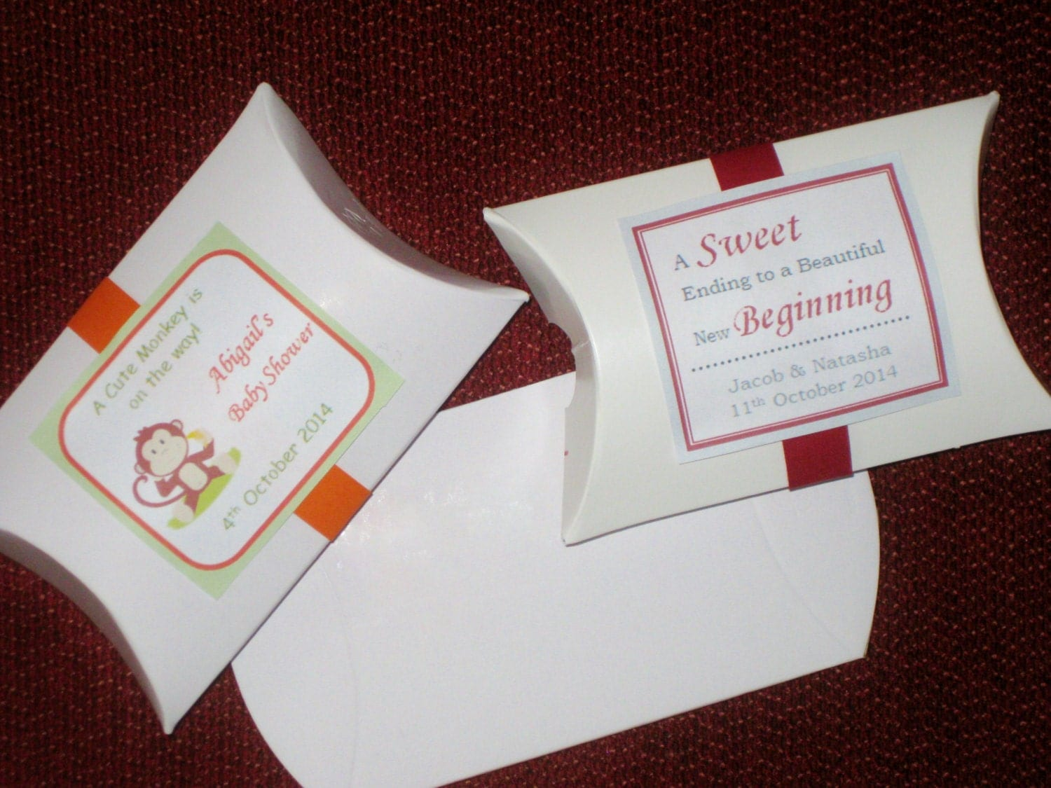 Wedding Favor Boxes White: White box gift wedding favor set of.