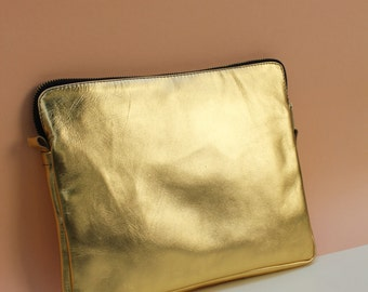 Leather IPAD CASE Gold