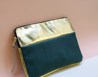 Leather Tablet Case MINI Pine/ Gold