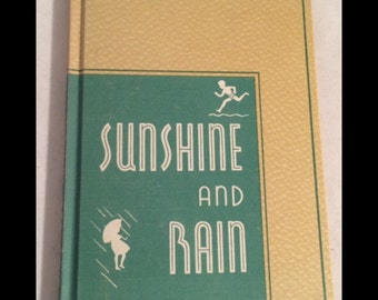 Sunshine and Rain 1937 How & Why Science Childrens Art Deco styled BOOK