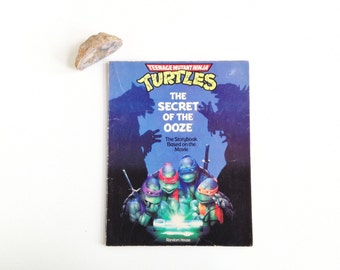Vintage Teenage Mutant Ninja Turtles Secret Of The Ooze Storybook