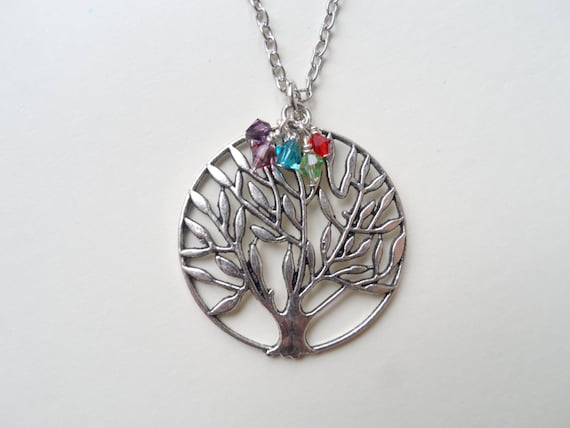 tree of pendant birthstone necklace s