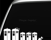 Dr Who Tardis Family Vinyl Decals