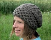 KNITTING PATTERN Hat - PDF Adult Hat - Knit pattern Slouch Hat - Knitting pattern Adult Hat