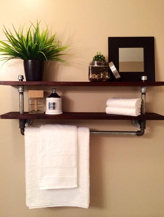 Bathroom Towel Bar: Items Similar To Galvanized Pipe Industrial Towel Rack W