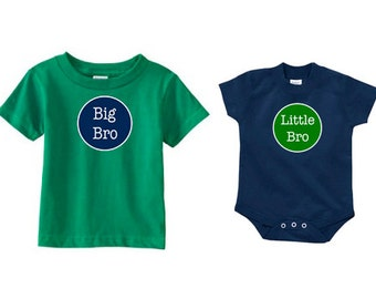 Big Brother Little Brother Set | Big Brother Shirt | Little Brother Shirt | Personalized Sibling Shirts | Matching Brother Shirts | Big Bro