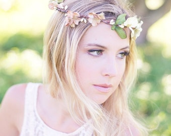 The Twiggy Flower Halo - Flower Girl Collection -