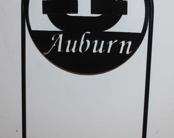 "Officially Licensed Auburn University ""AU""  Metal Yard Sign"