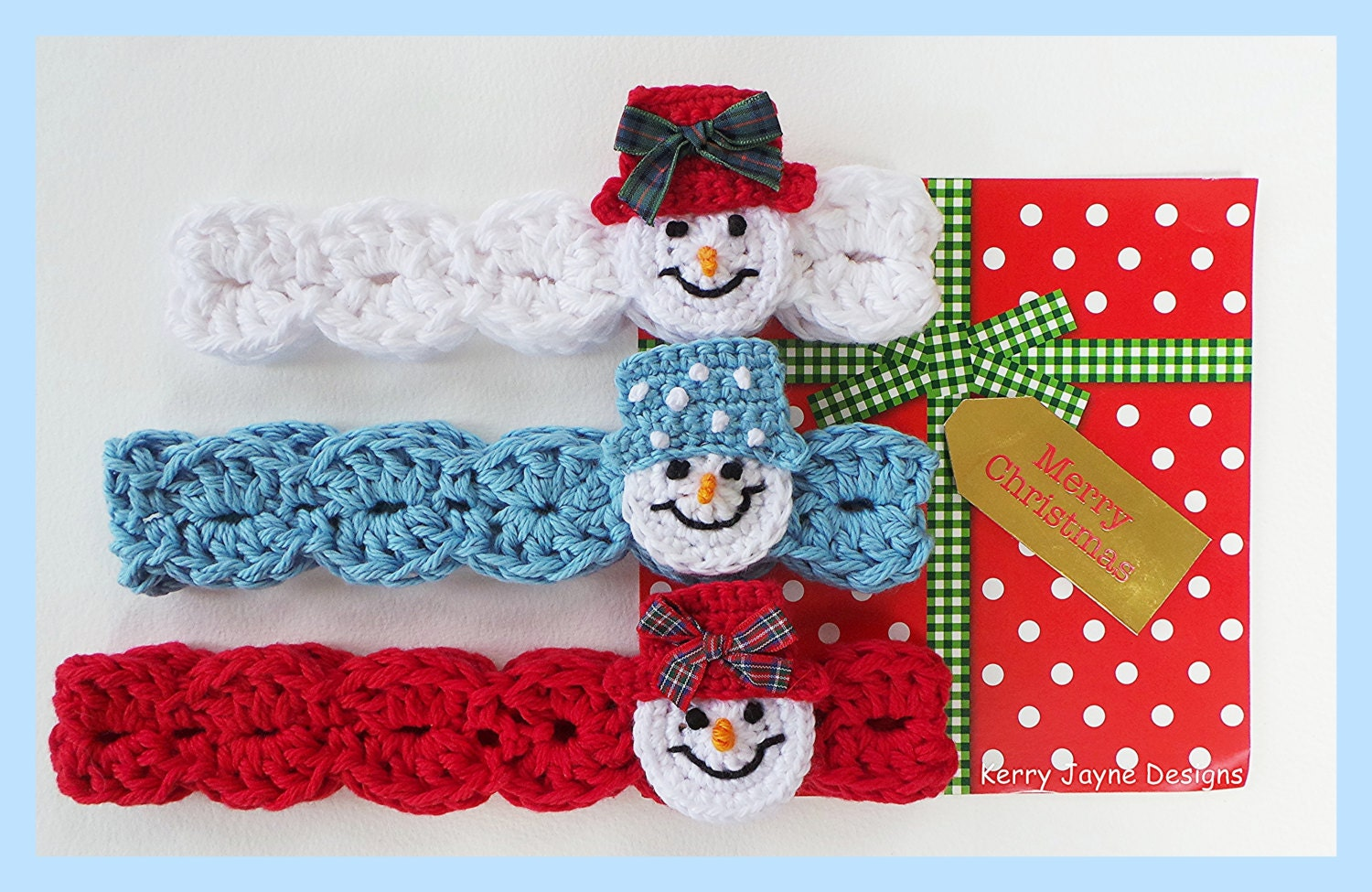 Crochet headband pattern snowman headband pattern christmas zoom bankloansurffo Image collections