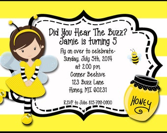 Black yellow invites etsy bumble bee invitation birthday printable twin bumble bee birthday party black and yellow digital filmwisefo Images