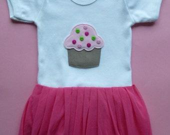 Muffin  tutu ballerina onesie/ bodysuit  size 6-12 months
