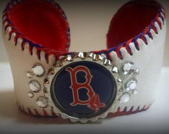 Boston Red Sox Baseball Cuff Bracelet Jewelry