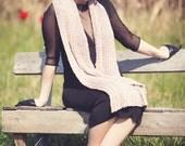 extra long scarf - rose quartz scarf - womens scarf - cozy scarf - rustic scarf - spring scarf - extra long scarf - hand made scarf