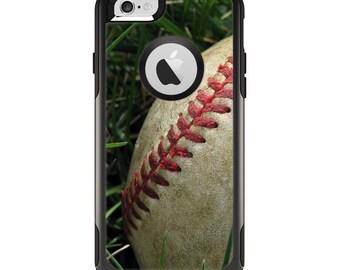 The Grunge Worn Baseball Apple iPhone 6 Otterbox Commuter Case Skin Set