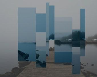 Abstract Fractal Desktop Background Wallpaper – Dock on Lake