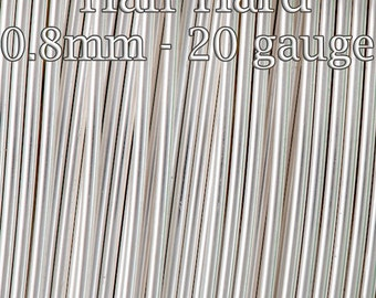 25FT (7.5mt) - Silver filled wire Half Hard round 0.8mm 20gauge - fine silver filled tarnish resistant - 20%Discounted price bulk quantity