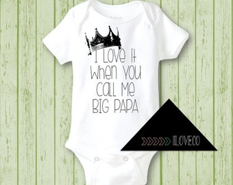 Baby Onesie Notorious Big I Love It When You Call Me Big