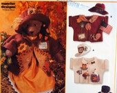31 Inch Bear, Dress, Hats, And Jackets Simplicity Crafts 7606 Uncut Sewing Pattern 1997