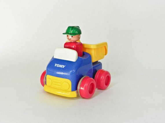 90s Music Toys : Tomy push n go car dump truck s toy primary
