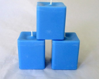 Blueberry cheesecake candle, square votive candle, scented soy candle, soy votive, votive candle, decorative candle, gift candle