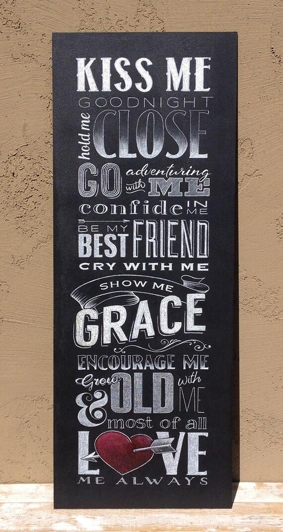 Custom Quote Chalkboard